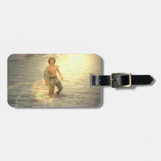 Surfer Boy  Luggage Tag