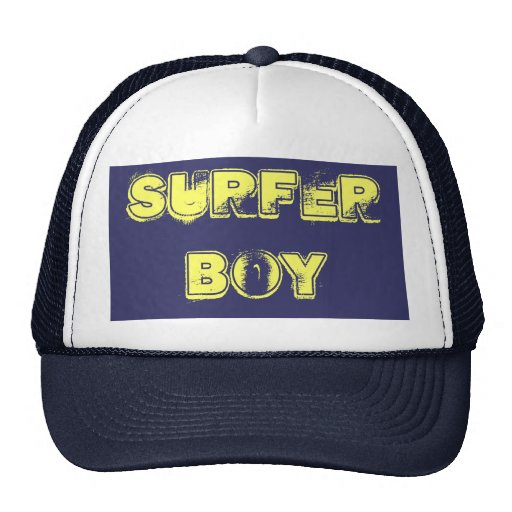 Surfer boy trucker hat