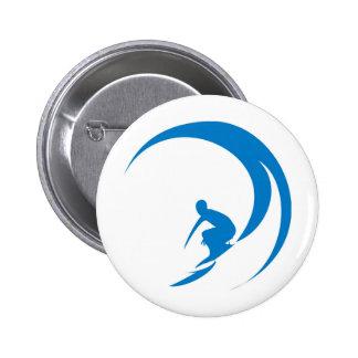 Surfer Pinback Button