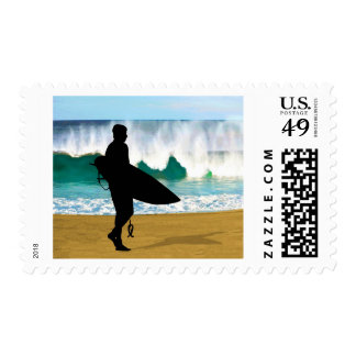 Surfer by a Crashing Tube Invited Postage