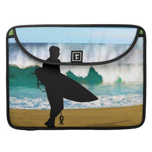 Surfer by a Crashing Tube MacBook Pro Sleeves