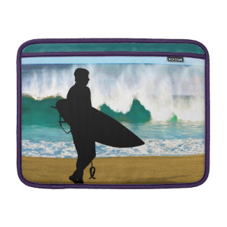 Surfer by a Crashing Tube Sleeve For MacBook Air