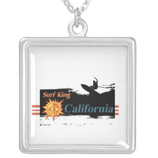 Surfer California Square Pendant Necklace
