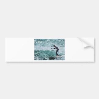 surfer car bumper sticker