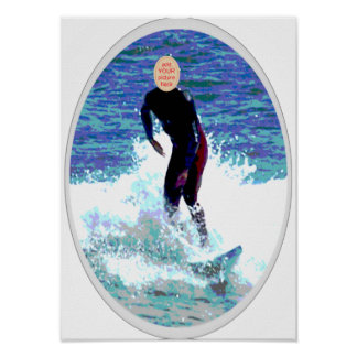 Surfer Carnival Cutout Poster