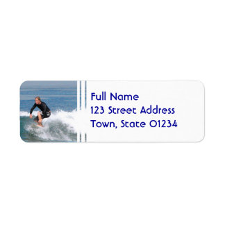 Surfer Carving Custom Return Address Label