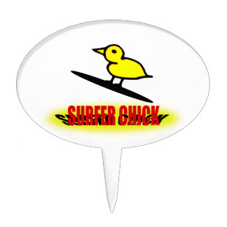 Surfer Chick Cake Toppers