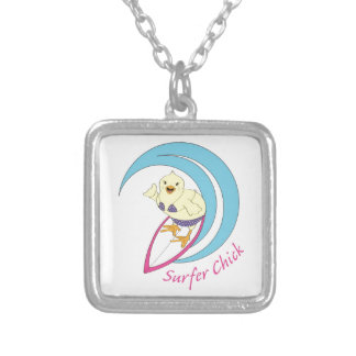 Surfer Chick Silver Plated Necklace