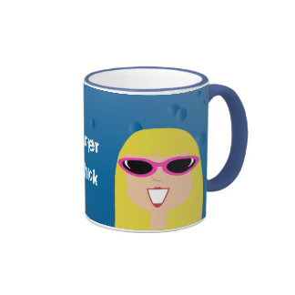 Surfer Chick With Sunglasses Mug