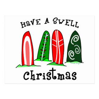 Surfer Christmas Postcard