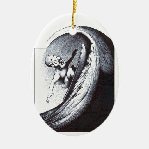 Surfer Christmas Tree Ornaments