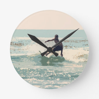 Surfer Round Wall Clock