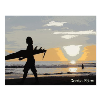 Surfer Costa Rica Sunset Postcard