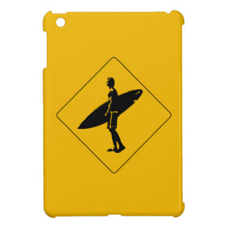 Surfer Crossing Warning Sign, San Diego iPad Mini Cover