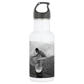 Surfer Dane Reynolds surfing El Salvador 18oz Water Bottle