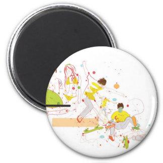 surfer design 2 inch round magnet