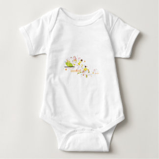 surfer design baby bodysuit