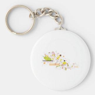 surfer design basic round button keychain