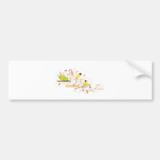 surfer design bumper sticker
