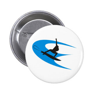 Surfer Design Pinback Button