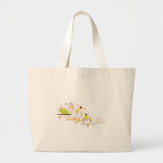 surfer design large tote bag