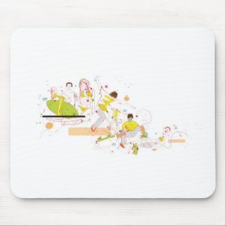 surfer design mouse pad