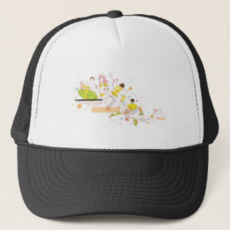 surfer design trucker hat