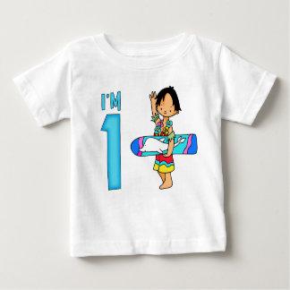 Surfer Dude 1st Birthday Baby T-Shirt