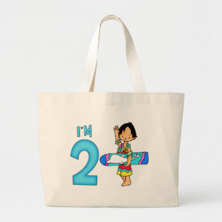 Surfer Dude 2nd Birthday Large Tote Bag