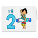 Surfer Dude 2nd Birthday Stationery Note Card