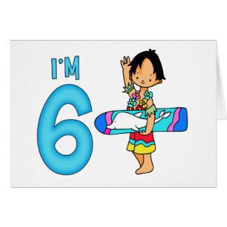 Surfer Dude 6th Birthday Greeting Card