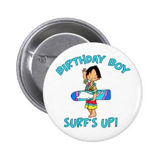 Surfer Dude Birthday Boy Button