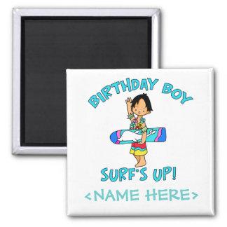 Surfer Dude Birthday Boy Fridge Magnets