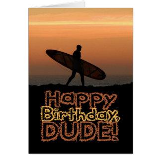 Surfer Dude Birthday Card