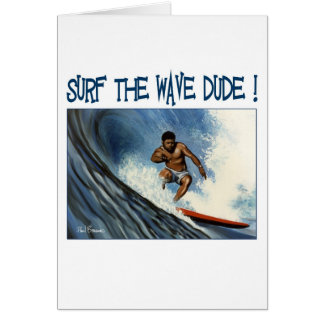 Surfer dude cards
