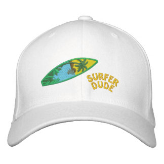 Surfer Dude Embroidered Cap