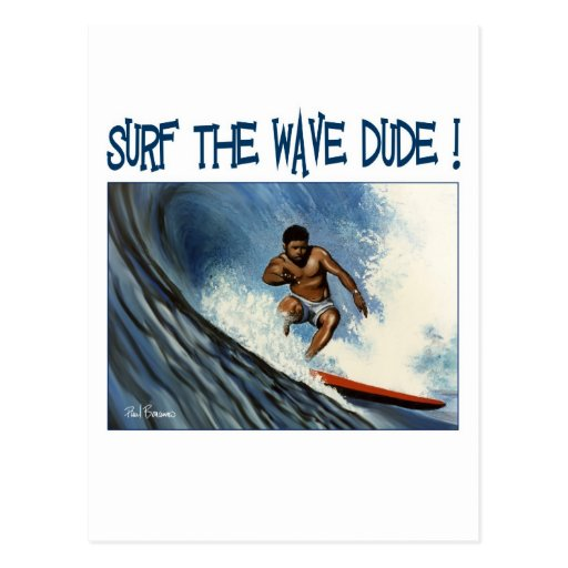 Surfer dude post card