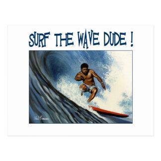 Surfer dude postcard