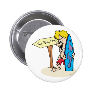 Surfer Dude The Hamptons Button