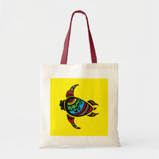 SURFER DUDE TURTLE TRIBAL VECTOR TATTOO COLORFUL G TOTE BAG
