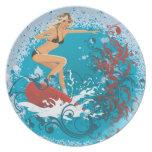 Surfer Girl 1 Plate