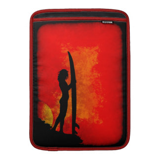 Surfer Girl at Sunset MacBook Air Sleeve