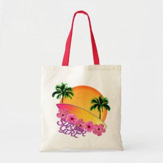Surfer Girl Tote Bags