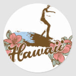 surfer girl beach hawaii surf hawaiian stickers
