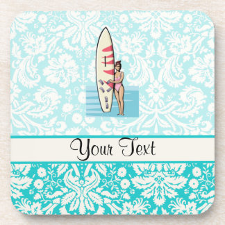 Surfer Girl Beverage Coaster