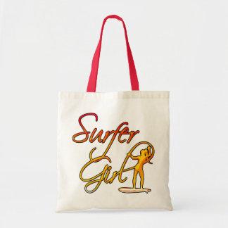 Surfer Girl Budget Tote Bag