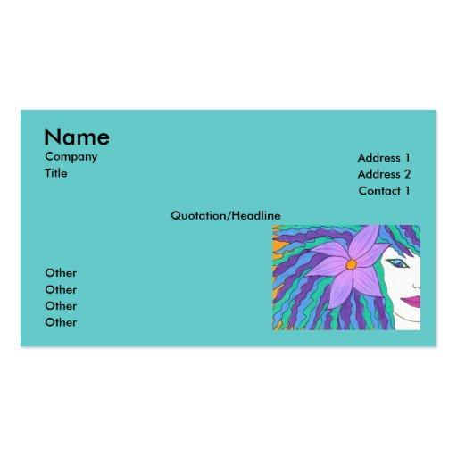 Surfer Girl Business Card Template