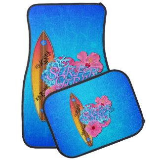 Surfer Girl Car Floor Mat
