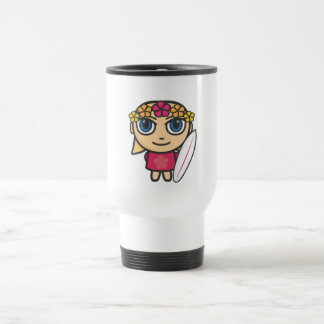Surfer Girl Cartoon Character Mug