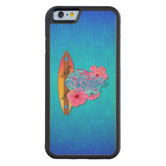 Surfer Girl Carved Maple iPhone 6 Bumper Case